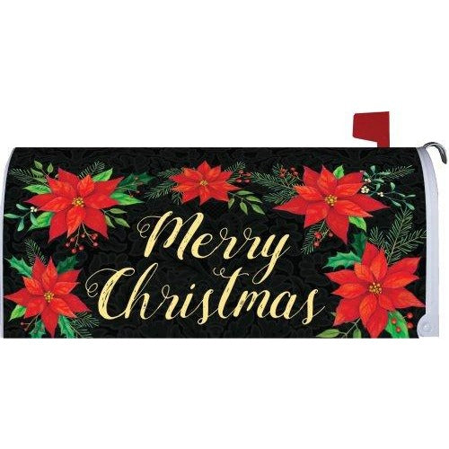 Christmas Poinsettia Standard Mailbox Cover