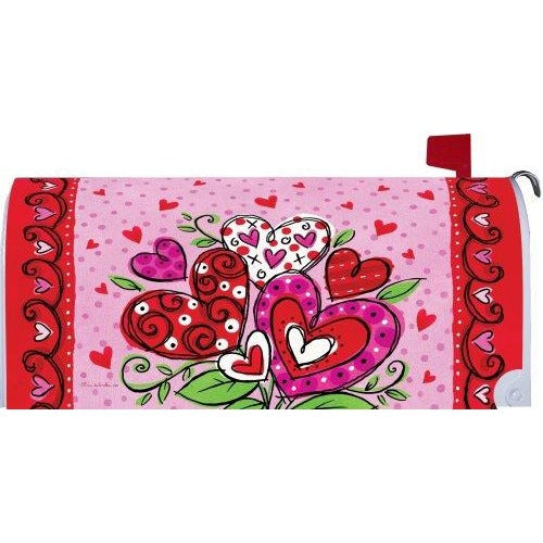 Valentines Hearts Standard Mailbox Cover - FlagsOnline.com by CRW Flags Inc.