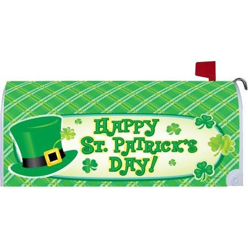 Happy St. Pat's Hat Standard Mailbox Cover