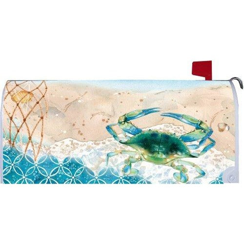 Blue Crab Net Standard Mailbox Cover - FlagsOnline.com by CRW Flags Inc.