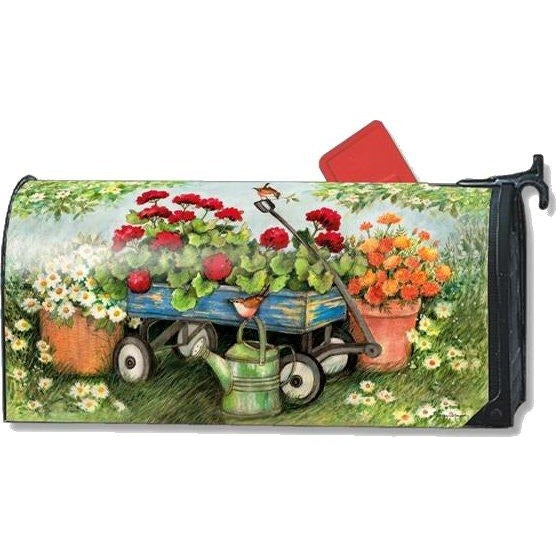 Geraniums by the Dozen Standard Mailbox Cover