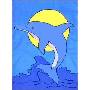 Dolphin - House Flag - FlagsOnline.com by CRW Flags Inc.