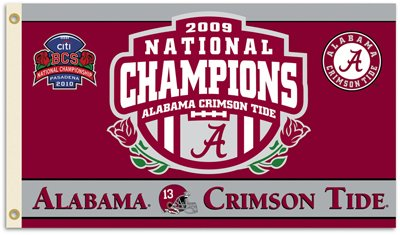 University of Alabama 2009 Champs 3x5ft Flag
