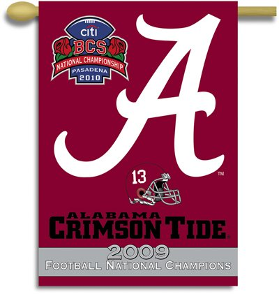 University of Alabama 2009 Champs House Flag 2 Sided