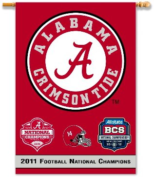 University of Alabama 2011 Champs House Flag 2 Sided