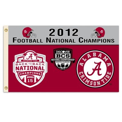University of Alabama 2012 Champs 3x5ft Flag