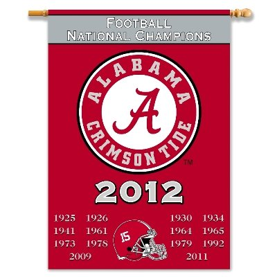 University of Alabama 2012 Champs House Flag 2 Sided