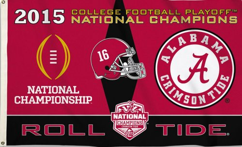 University of Alabama 2015 Champs 3x5ft Flag