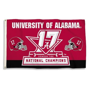 University of Alabama 2017 Champs 3x5ft Flag