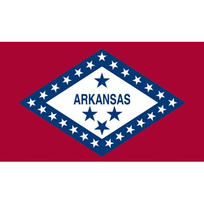 Arkansas Flag - Industrial Polyester