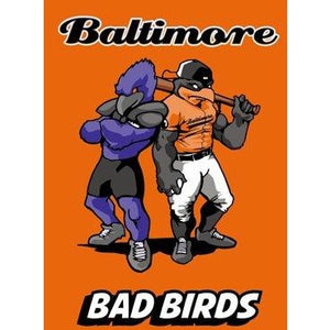 Baltimore Bad Birds Orange - Garden Flag
