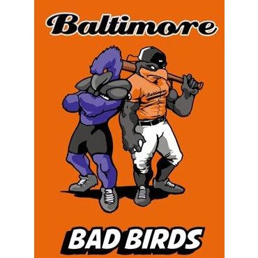 Baltimore Bad Birds Orange - House Flag