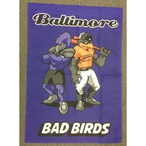 Baltimore Bad Birds Purple - Garden Flag