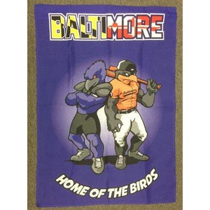 Baltimore Home of the Birds Purple - Garden Flag
