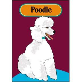 White Poodle I - House Flag