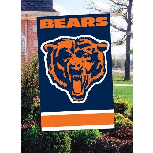 Chicago Bears House Sewn Flag 2 Sided