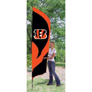 Cincinnati Bengals 8ft Feather Sewn Flag Kit