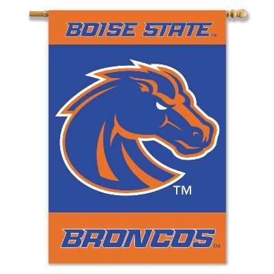 Boise State University House Flag 2 Sided
