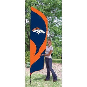 Denver Broncos 8ft Feather Sewn Flag Kit