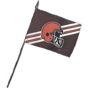 Cleveland Browns 4x6in Stick Flag