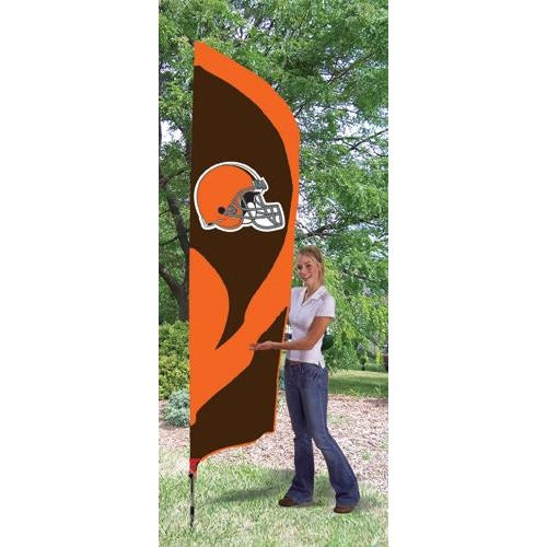 Cleveland Browns 8ft Feather Sewn Flag Kit