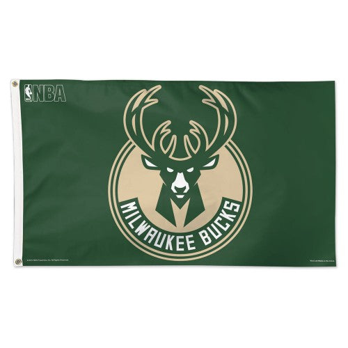 Milwaukee Bucks 3x5ft Deluxe Flag