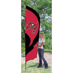 Tampa Bay Buccaneers 8ft Feather Sewn Flag Kit