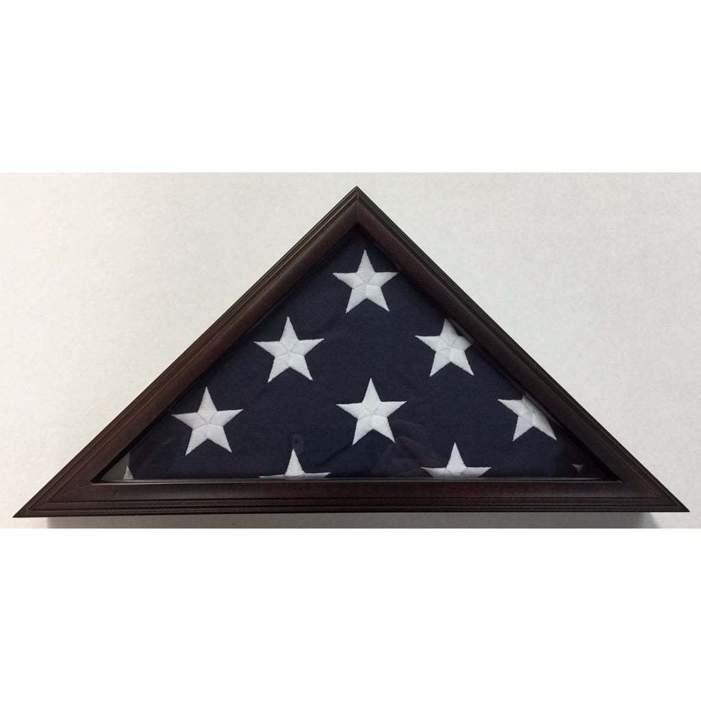 Triangle Wood Display Case for 3x5ft Flag - Cherry - FlagsOnline.com by CRW Flags Inc. - 1
