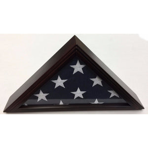 Triangle Wood Display Case for 3x5ft Flag - Cherry - FlagsOnline.com by CRW Flags Inc. - 2