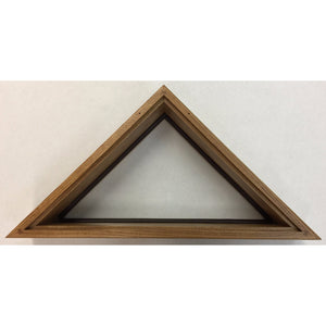 Triangle Wood Display Case for 3x5ft Flag - Oak - FlagsOnline.com by CRW Flags Inc. - 3