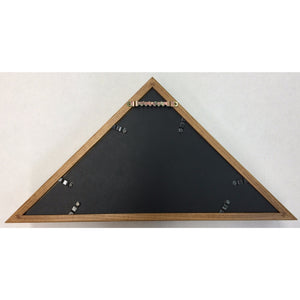 Triangle Wood Display Case for 3x5ft Flag - Oak - FlagsOnline.com by CRW Flags Inc. - 4
