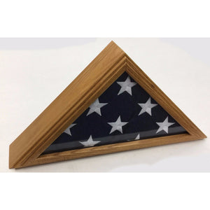 Triangle Wood Display Case for 3x5ft Flag - Oak - FlagsOnline.com by CRW Flags Inc. - 2