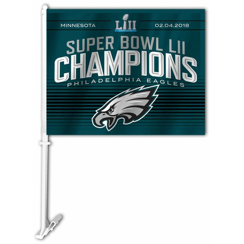 Super Bowl 52 Philadelphia Eagles Car Flag 2 Sided