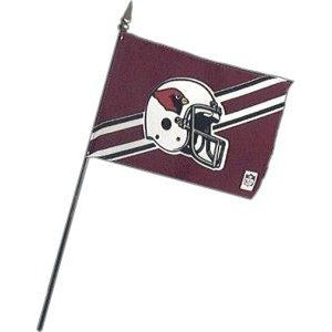Arizona Cardinals 4x6in Stick Flag