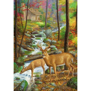 Deer Stream - House Flag - FlagsOnline.com by CRW Flags Inc.
