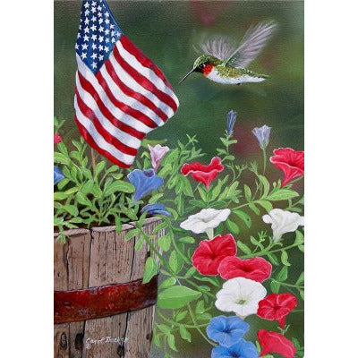 Patriotic Hummer - Garden Flag - FlagsOnline.com by CRW Flags Inc.