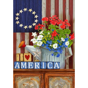 I Love America - House Flag - FlagsOnline.com by CRW Flags Inc.