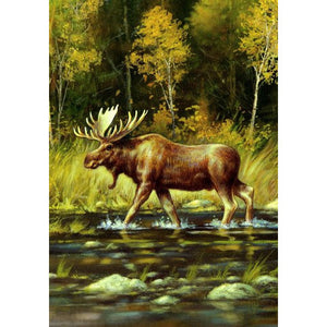Wading Moose - Garden Flag - FlagsOnline.com by CRW Flags Inc.