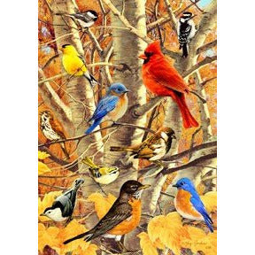 Songbird Gathering - Garden Flag - FlagsOnline.com by CRW Flags Inc.
