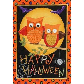 Happy Owloween - House Flag - FlagsOnline.com by CRW Flags Inc.