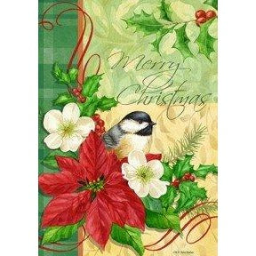 Christmas Chickadee - House Flag