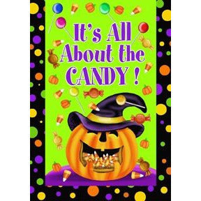 It's All About The Candy - House Flag - FlagsOnline.com by CRW Flags Inc.