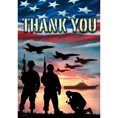 Thank You Troops- House Flag - FlagsOnline.com by CRW Flags Inc.