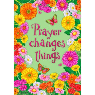 Prayer Floral - House Flag - FlagsOnline.com by CRW Flags Inc.