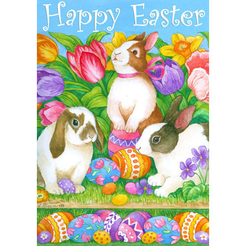 Easter Egg Bunnies - Garden Flag - FlagsOnline.com by CRW Flags Inc.
