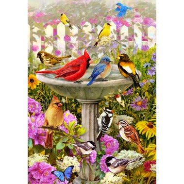 Birdbath Friends - House Flag - FlagsOnline.com by CRW Flags Inc.