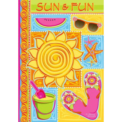 Sun & Fun - Garden Flag - FlagsOnline.com by CRW Flags Inc.