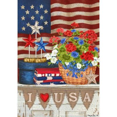 I Love the USA - House Flag