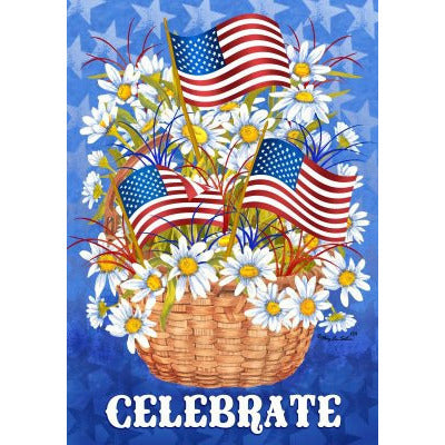 Daisies & Flags - Garden Flag - FlagsOnline.com by CRW Flags Inc.