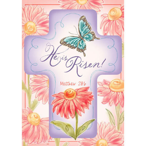 He is Risen - Garden Flag